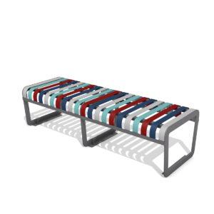 Ławka bez oparcia Zebra Basic